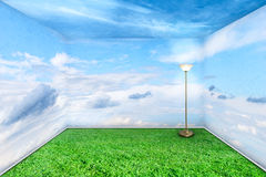 Sala verde Imagem de Stock Royalty Free