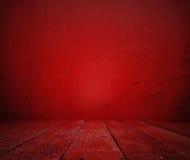 Sala vermelha velha imagens de stock