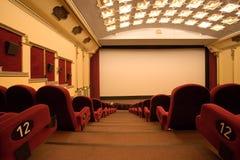 Sala vuota del cinematografo Immagini Stock