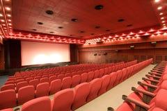 Sala vuota del cinematografo Immagine Stock