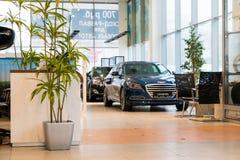 Sala wystawowa i samochód przedstawicielstwo handlowe Hyndai w Kirov mieście w 2016 Obrazy Stock
