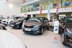 Sala wystawowa KIA i samochód przedstawicielstwo handlowe Kia Kirov w Kirov mieście Obraz Stock
