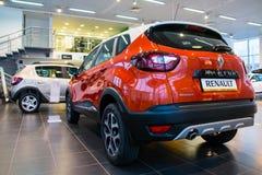 Sala wystawowa Renault i samochód przedstawicielstwo handlowe Tehzentr Gusar w Kirov c Fotografia Royalty Free