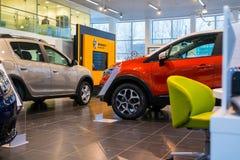 Sala wystawowa Renault i samochód przedstawicielstwo handlowe Tehzentr Gusar w Kirov c Zdjęcia Stock