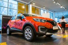 Sala wystawowa Renault i samochód przedstawicielstwo handlowe Tehzentr Gusar w Kirov c Obraz Royalty Free