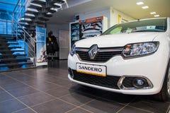 Sala wystawowa Renault i samochód przedstawicielstwo handlowe Tehzentr Gusar w Kirov c Zdjęcie Royalty Free