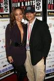 Sala y Clinton H. Wallace de Caryn en la premier africana del festival de película de la cacerola de ?Layla?. Teatro de la plaza d Fotografía de archivo