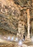 Sala z filarami w Cango jamie Fotografia Stock
