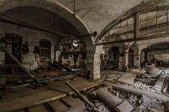 sala z kryptą w papierowej fabryce zdjęcie stock