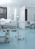 Sala zakaźny pacjent w szpitalu obrazy royalty free