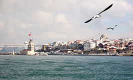 Salacak in winter. Istanbul Salacak coast in winter Stock Photo
