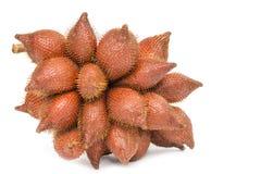 Salacca eller för zalacca tropisk frukt som isoleras på vit bakgrund arkivfoto