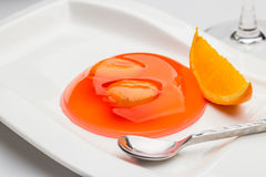 Salacca Jelly with Orange Stock Images