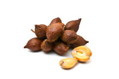 Salacca owoc na białym tle zdjęcia royalty free