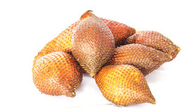 Salacca of Salak-Palmfruit op witte achtergrond Stock Afbeelding