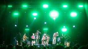 Salacgriva Lettland, internationell musikfestival LABADABA, Juli Royaltyfri Fotografi
