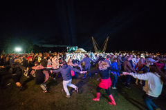 Salacgriva Lettland, internationell musikfestival LABADABA, Juli Arkivbild