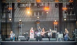 Salacgriva Lettland, internationell musikfestival LABADABA, Juli Royaltyfri Bild