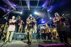 Salacgriva Lettland, internationell musikfestival LABADABA, Juli Royaltyfri Foto