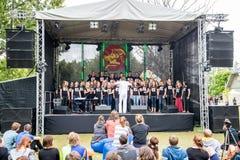 Salacgriva Lettland, internationell musikfestival LABADABA, Juli Royaltyfria Bilder