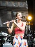 Salacgriva Lettland, internationell musikfestival LABADABA, Juli Royaltyfria Foton