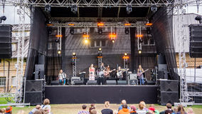 Salacgriva Lettland, internationell musikfestival LABADABA, Juli Arkivfoton