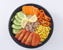 Salad. Tuna salad with refresh vegetables Royalty Free Stock Image