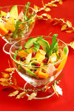 Salad. With chicken,avocado,mango,pomegranate and arugula stock photography