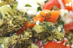 Salad. Mixed vegetable salad very taety Royalty Free Stock Image