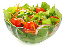 Salad. The salad on white background Stock Photos