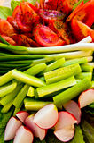 Salad. Fresh vegetables salad with lots of spices Stock Image