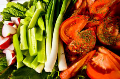 Salad. Fresh vegetables salad with lots of spices Royalty Free Stock Photo