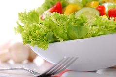Salad. Fresh healthy salad on white background hi-res Stock Photos