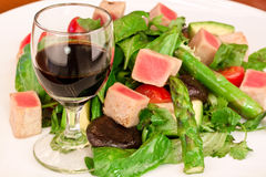 Salad. From vagetables with sauce Stock Photo