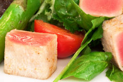 Salad. From vegetables with greenery Royalty Free Stock Image