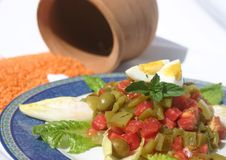 Salad. Middle easter salad with clay pot in background Stock Image