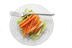 Salad. Top shot of a carrot and celery salad Stock Photo