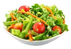 Salad. The salad on white background Royalty Free Stock Images