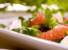 Salad. With grapefruit and bean Stock Photography