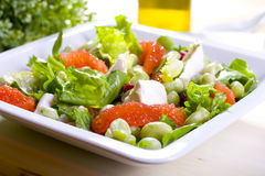 Salad. With grapefruit and bean Stock Images
