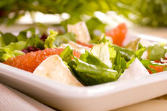 Salad. With grapefruit and bean Stock Image