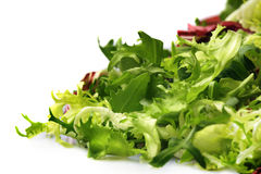 Salad. Close up photo of Salad isolated on white Royalty Free Stock Photography
