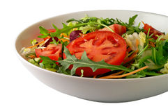 Salad (2) with clipping path stock images