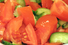 Salad. From fresh vegetables with vegetable oil Royalty Free Stock Images