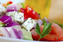 Salad. Fresh greek salad on plate Royalty Free Stock Photo
