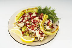 Salad. Fresh salad with baked pepper Royalty Free Stock Image
