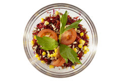 Salad. French salad with tomatoes  corn beet Stock Photography