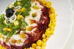 Salad. Fresh salad with corn ,beet and raisin Stock Image