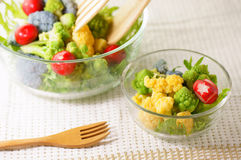 Salad. Fresh salad in the glass bowl Stock Images