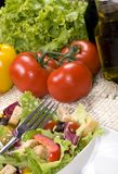 Salad. A health dinner salad with lots of greens Royalty Free Stock Image